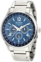 Armitron Men's 204676BLSV Stainless-Steel Multi-Function Blue Textured Dial Sport Watch from Armitron