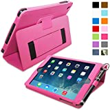 iPad Mini & Mini 2 Case, Snugg™ - Smart Cover with Flip Stand & Lifetime Guarantee (Hot Pink Leather) for Apple iPad Mini & Mini 2 with Retina
