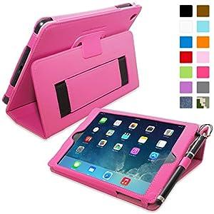 Snugg - Coque Pour iPad Mini & Mini 2 - Smart Cover Avec Support Pied Et Une Garantie à Vie (En Cuir Rose Vif) Pour Apple iPad Mini & Mini 2