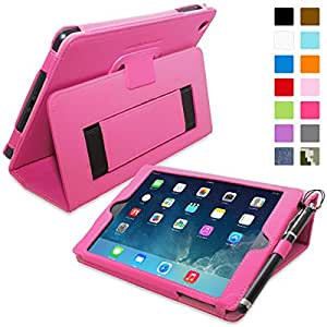 iPad Mini & Mini 2 Case, Snugg™ - Smart Cover with Flip Stand & Lifetime Guarantee (Hot Pink Leather) for Apple iPad Mini & Mini 2 with Retina