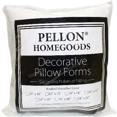 "Pellon PPI24X24 Decorative Pillow Form, 24"" by 24"", White"