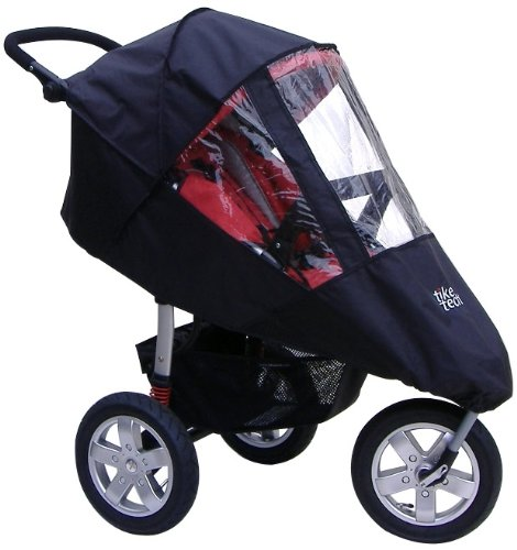Tike Tech Single City X3 All Season Stroller Cover, Black/Clear - 1