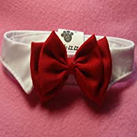 EOM Selected Adjustable Dog Bow Tie Puppy Pet Costume Collar Stripe Bow Tie Dogs Cats Puppy Tie Neck Tie - Perfect for Wedding Tie Party Accessories