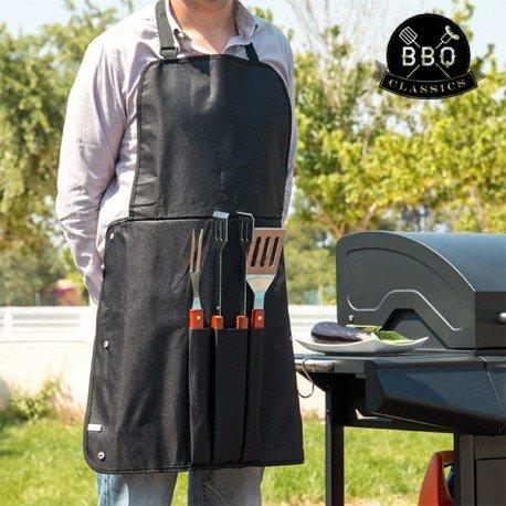 Utensili per Barbecue e Grembiule BBQ Classics Spatola Forchetta Pinze