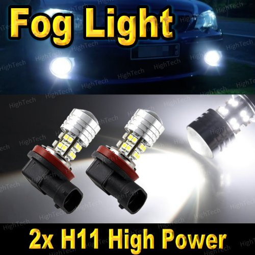 Pair Super White H11 20-Smd High Power Led Headlight Bulbs For Driving Fog Light / Day Time Running Light Drl