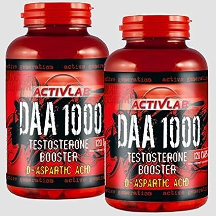 3x DAA-1000 a 120 Tabletten Hochdosiert! D-Asparaginsäure á 1000mg Testosteron Booster - Muskelaufbau - Strong Anabol - Premium Qualität