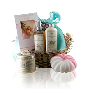 Amazon.com: Castle Baths - Wedding Wishes Gift Basket with Handmade ...