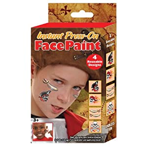 Click to buy Pirate Birthday Party Ideas: Pirate Press-on Face and Body Paint Kit from Amazon!