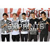 "One Direction 1D Poster Photo Signed PP Harry Styles Niall Horan Liam Louis Zayn 12x8"" Perfect Giftby One Direction"