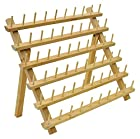 60 Spool Wood Thread Rack - Great for Sewing And Embroidery Machine Thread- Great Addition For a Sewing Room - Wooden