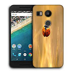 Snoogg Yellow Beatel Printed Protective Phone Back Case Cover For LG Google Nexus 5X