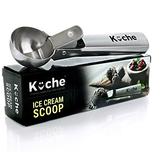kuche-easy-trigger-stainless-steel-ice-cream-scoop-cookie-dough-and-water-melon-scoop-by-kuche