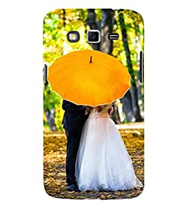 Printvisa Newly Married Under A Yellow Umbrella 3D Hard Polycarbonate Designer Back Case Cover For Samsung Galaxy Grand 3 G720