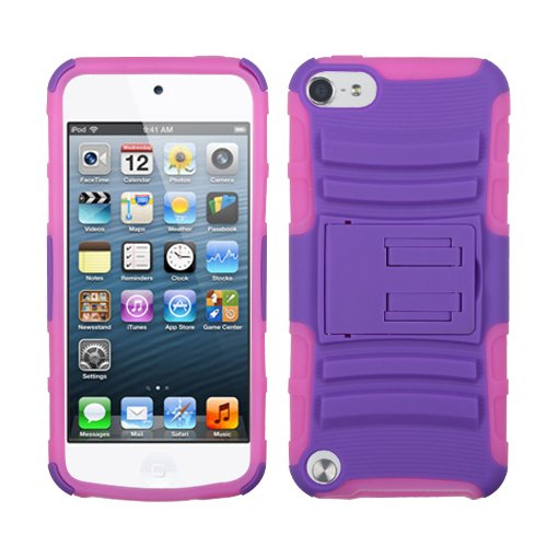 Fits Apple Ipod Touch 5 (5Th Generation) Snap On Cover Purple/Electric Pink Advanced Armor Stand (Does Not Fit Ipod Touch 1St, 2Nd, 3Rd Or 4Th Generations)