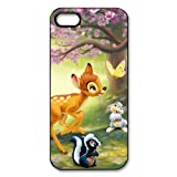 Customize Black White Cartoon Disney Bambi Back Case for iphone 5 5S JN5S-2190