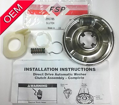 OEM FACTORY ORIGINAL PART # 285785 OR 285331, 28533-1, 285380, 285422, 285540, 285761, 28576-1, 3350015, 3350114, 3350115 CLOTHES WASHING MACHINE WASHER CLUTCH KIT FOR WHIRLPOOL KENMORE SEARS ROPER ESTATE KITCHENAID MAYTAG ADMIRAL AMANA BRAND WASHING MACHINES (Whirlpool Clutch Assembly compare prices)