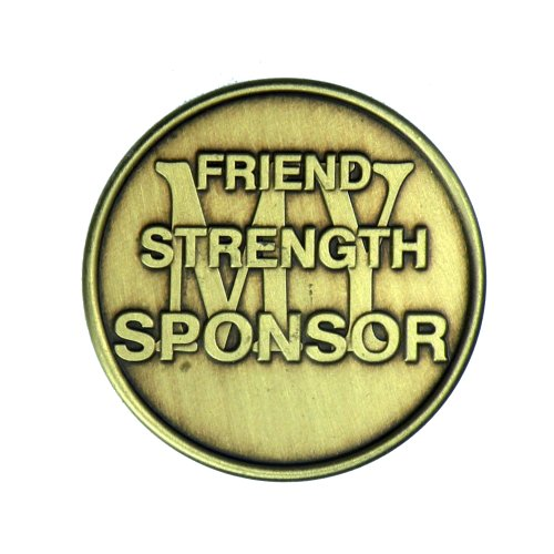 My Sponsor Bronze AA (Alcoholics Anonymous) -ACA-AL-ANON Sobriety / Affirmation / Desire / Medallion / Coin / Chip