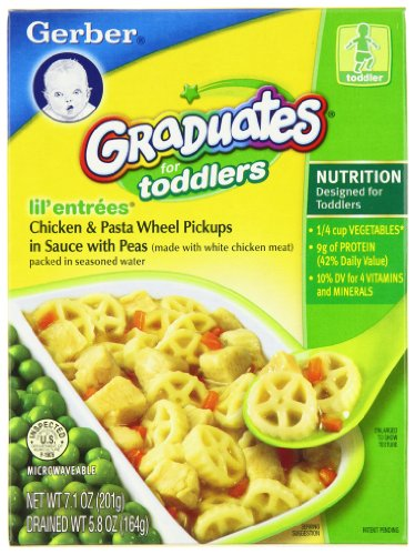 Gerber Graduates Lil' Entrees, Chicken & Pasta Wheels Pick-Ups, 5.8-Ounce Boxes (Pack of 12)