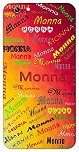 Monna (Popular Girl Name) Name & Sign Printed All over customize & Personalized!! Protective back cover for your Smart Phone : Moto G2 ( 2nd Gen )