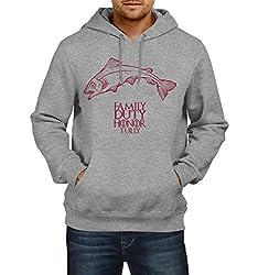 Fanideaz Men's Cotton House Of Tully Game Of Thrones Hoodies For Men (Premium Sweatshirt)_Grey Melange_XL