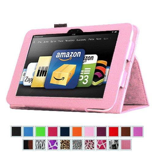 On Sales for Fintie Kindle Fire HD 8.9″ Slim Fit Leather Case with Auto Sleep/Wake for Amazon Kindle Fire HD 8.9 – Pink (will not fit HDX models) Price 2013