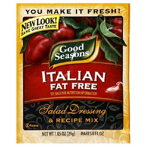 Good Seasons Salad Dressing & Recipe Mix, Fat Free Italian, 1.05-Ounce Packets (Pack of 24)