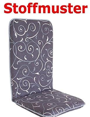 Polsterauflage Sitzauflage Gartenstuhlauflage Modell 880 Farbe: anthrazitbraun -beige von Adlatus auf Gartenmöbel von Du und Dein Garten