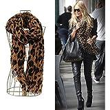 Leopard Print Scarve with One Piece of Fashion Bracelet