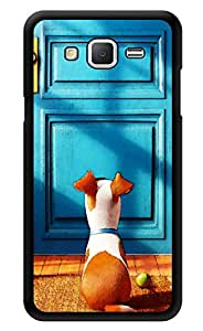 """Humor Gang Puppy On Door Printed Designer Mobile Back Cover For """"Samsung Galaxy Grand 2"""" (3D, Glossy, Premium Quality Snap On Case)"""