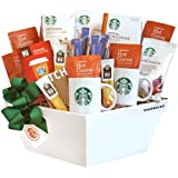 California Delicious Gift Basket, Starbucks Coffee, Cocoa and Chocolate