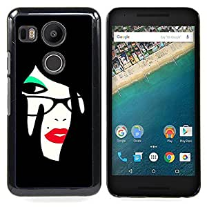 Omega Covers - Snap on Hard Back Case Cover Shell FOR LG GOOGLE NEXUS 5X - Red Lips