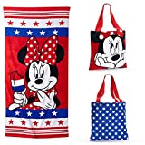 Disney Minnie Mouse Beach Towel and Tote Set