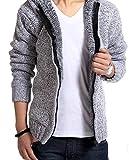 【ノーブランド品】あったか メンズ パーカー 秋 冬 セーター 3色 展開 ブレスレット 2点 セット