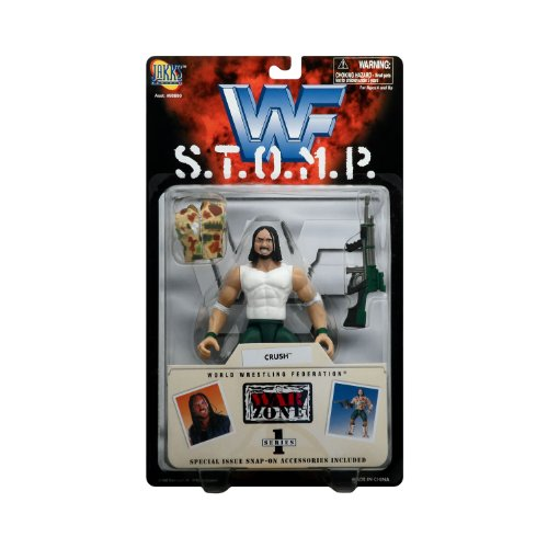 Crush Action Figure - WWF S.T.O.M.P. War Zone Series 1