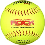 Trump® X-ROCK-RP-Y The Rock® Series 12 inch Yellow Composite Leather Softball (Official Softball Stamp) (Sold in Dozens)