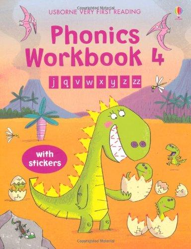 Phonics Workbook 4 (Usborne Very First Reading)