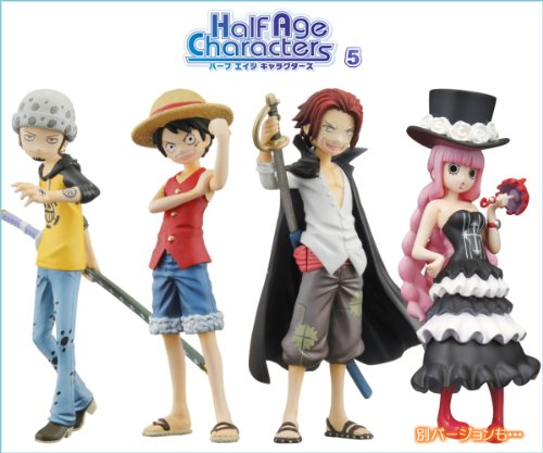 Half Age Characters One Piece promise of the straw hat Half Age Characters ONE PIECE Bandai (another ver. 8 seed with all full comp set)