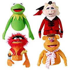 Muppets hand puppets set Kermit the frog and Miss Piggy
