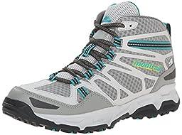 Montrail Womens Fluid Fusion Mid Outdry Trail Shoe, Platinum/Cool Grey, 6.5 M US