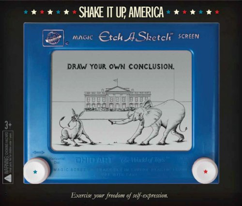 Ohio Art Etch A Sketch 2012 USA Election Red vs. Blue Edition