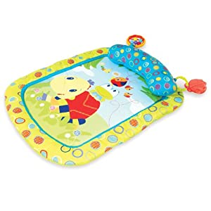 Bright Starts Tummy Time Prop and Play Mat, Tiny Turtle and Friends