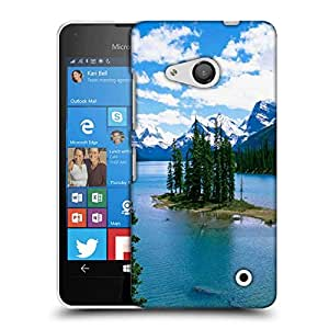 Snoogg Christmas Trees And River Designer Protective Phone Back Case Cover For Nokia Lumia 550