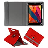 KOKO ROTATING 360° LEATHER FLIP CASE FOR APPLE IPAD MINI 3 TABLET STAND COVER HOLDER RED