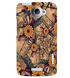 PRINTSWAG FLOWERS PATTERN Designer Back Cover Case for HTC ONE X