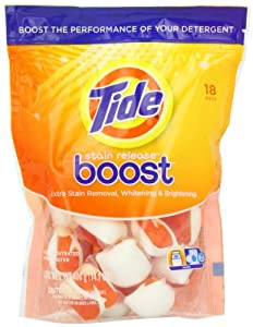Tide Stain Release Duo Pac In-Wash Booster Twin Pack, 18-count Bag