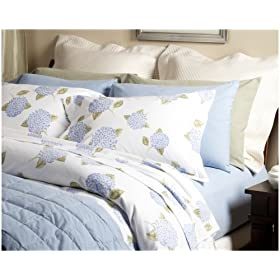 Pinzon 150-Gram Printed Flannel Full/Queen Duvet Cover, Hydrangea