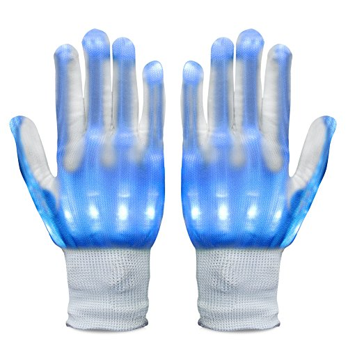 Vbiger LED Gloves Knit Gloves Party Light Show Gloves For Clubbing, Rave, Birthday, EDM, Disco, Christmas, Halloween And Dubstep Party