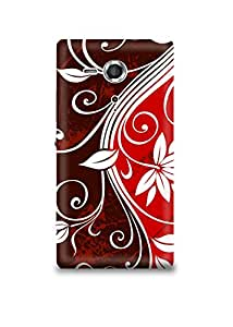 Artistic Floral Pattern Sony Sp Case