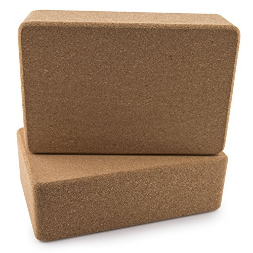 Peace-Yoga-Set-of-2-Cork-Wood-Yoga-Blocks-Choose-Your-Size