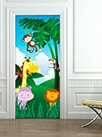 Ambiance-sticker Vinilo Decorativo Door Jungle animals